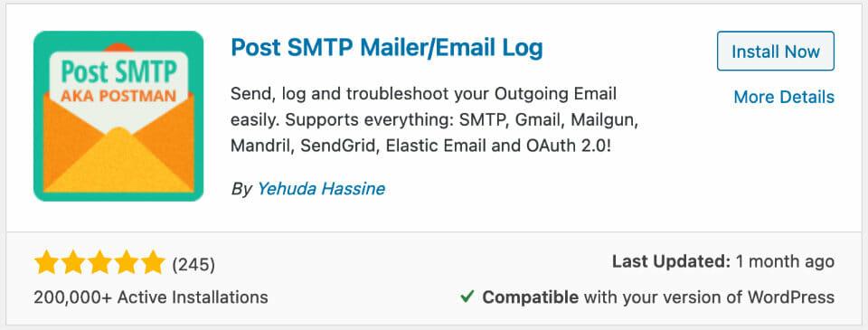 Mit dem Plugin Post SMTP Mailer/Email Log löst ihr Probleme mit dem E-Mail Versand in WordPress