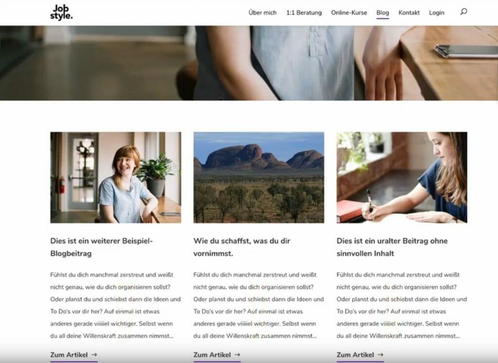 Blogbeitragsübersicht für Archivseiten