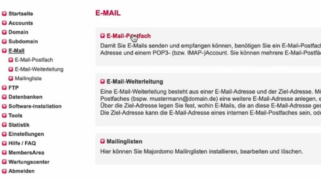 E-Mail Adresse anlegen bei all-inkl.com
